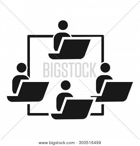 People work cohesion icon. Simple illustration of people work cohesion vector icon for web design isolated on white background poster