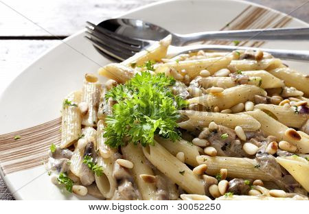 Pasta With Mushrooms And Parsley