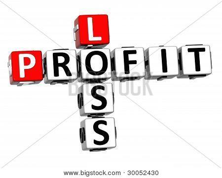 3D Profit Loss Crossword