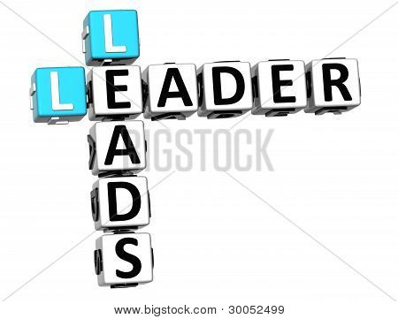 3D Leader Leads Crossword