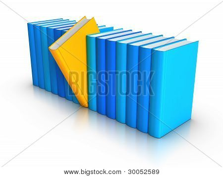 Row Of Colourful Books - Standing Out From Crowd