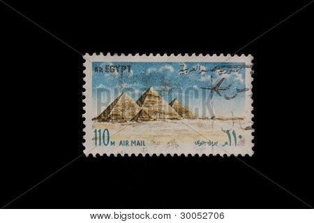 SALAMANCA 02/16/2012 Egypt Stamp with pyramids illustration