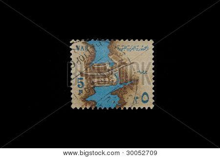 SALAMANCA 02/16/2012 Egypt Stamp with River Nile illustration