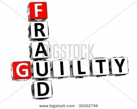 3D Guilty Fraud Crossword