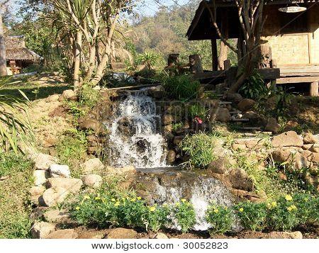 A small waterfall