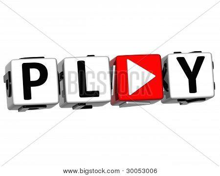 3D Play Block Text