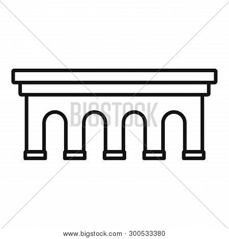 Beton Bridge Icon. Outline Beton Bridge Icon For Web Design Isolated On White Background