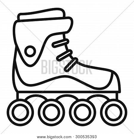Freestyle Inline Skates Icon. Outline Freestyle Inline Skates Icon For Web Design Isolated On White