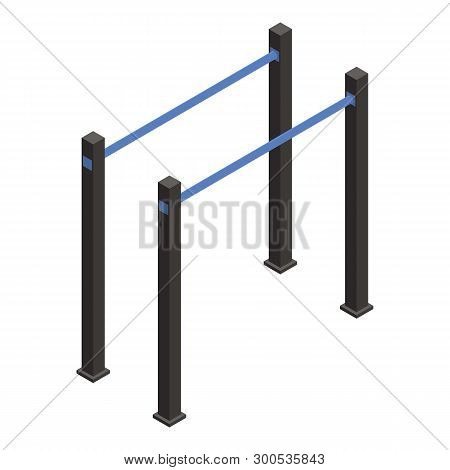 Gymnastic Parallel Bar Icon. Isometric Of Gymnastic Parallel Bar Vector Icon For Web Design Isolated