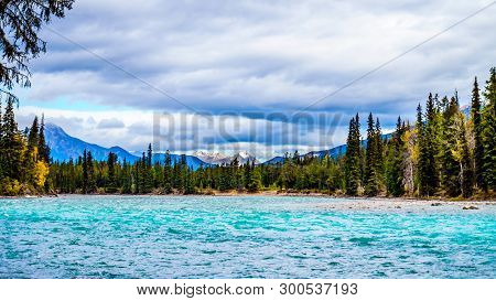 The Meeting Of The Rivers Location Where The Athabasca River And The Whirlpool River Meet In Jasper