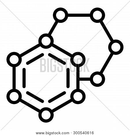 Molecular Compound Icon. Outline Molecular Compound Vector Icon For Web Design Isolated On White Bac