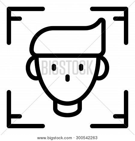 Person Identified Icon. Outline Person Identified Vector Icon For Web Design Isolated On White Backg