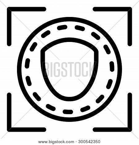 Face Is Identified Icon. Outline Face Is Identified Vector Icon For Web Design Isolated On White Bac