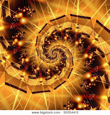 Abstract Fractal Spiral
