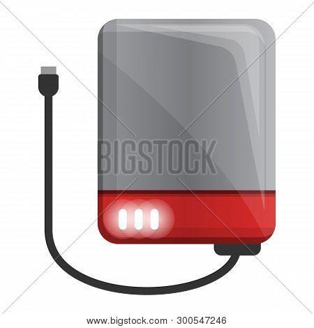 Usb Hard Disk Icon. Cartoon Of Usb Hard Disk Icon For Web Design Isolated On White Background