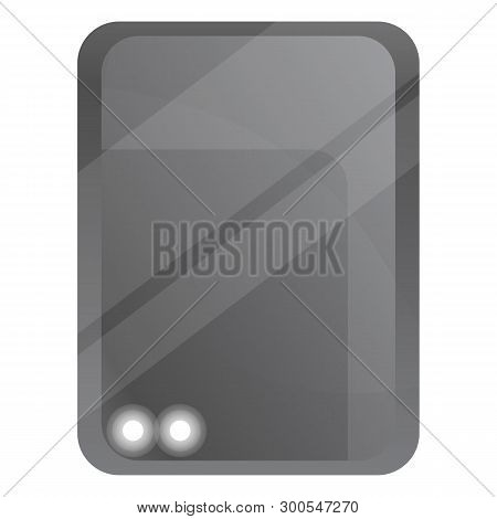 Electric Hard Disk Icon. Cartoon Of Electric Hard Disk Icon For Web Design Isolated On White Backgro