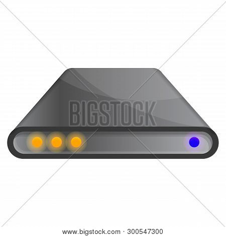Hard Drive Icon. Cartoon Of Hard Drive Icon For Web Design Isolated On White Background