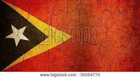 Grunge East Timor Flag
