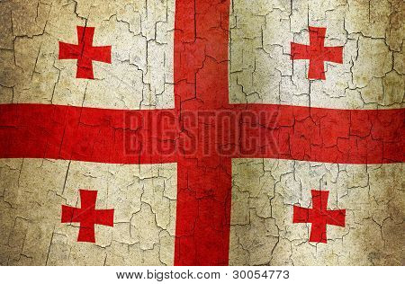 Grunge Georgia Flag