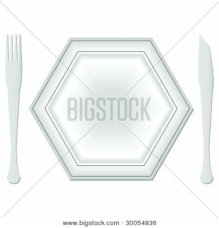 Hexagonal Plate And Dishes