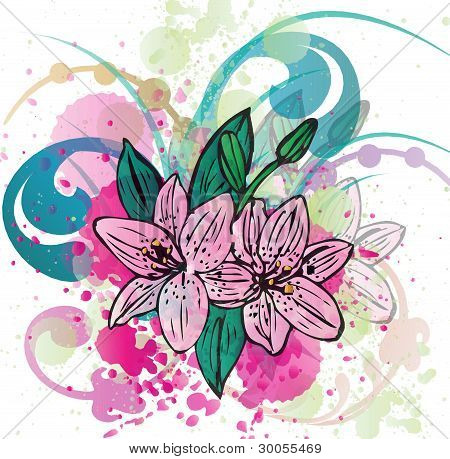 Colorful Flower Background.eps