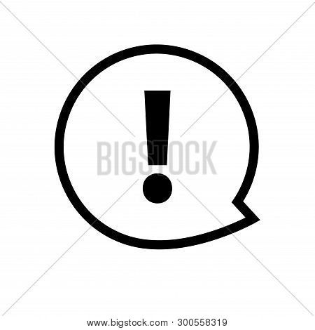 Exclamation Mark Icon Vector. Attention Sign Symbol. Warning Alert Icon