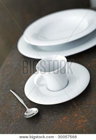 Elegant Close Up Of A Restaurant Table