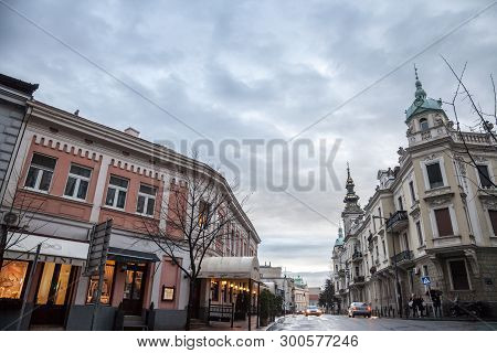 Belgrade, Serbia - March 16, 2018: Saint Michael Cathedral, Also Known As Saborna Crkva, With Its Ic