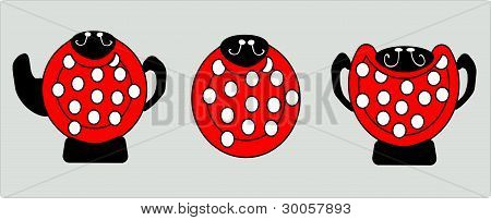 Dishes For The Children Ladybug