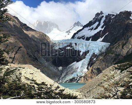 Glacier Piedras Blancas near El Chalten, Argentina poster