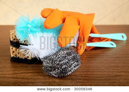 Still-life With Gloves And A Sponge