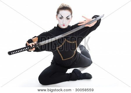 Mystic Girl With Sword.