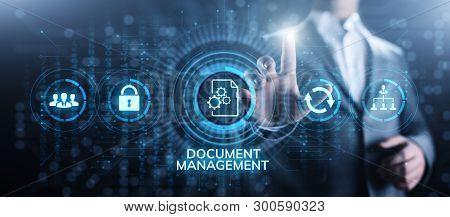 Document Management System Digital Right Management Business Technology Concept.