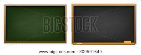 Creative Vector Illustration Of Chalkboard Isolated On Background. Art Design Blank Template Mockup
