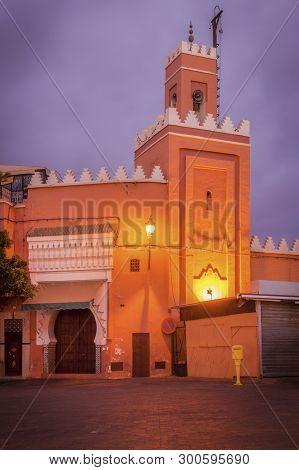 Small Mosque In The Center Marrakesh. Marrakesh, Marrakesh-safi, Morocco.