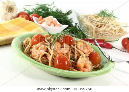 Fresh Spaghetti With Shrimp