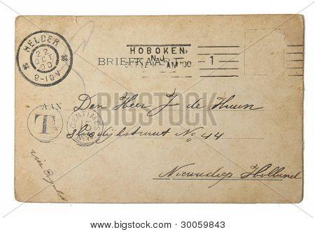 Vintage postal enviada en 1900 de los E.e.u.u.