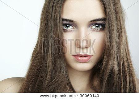 Fashion Portrait Of Young Beautiful Woman