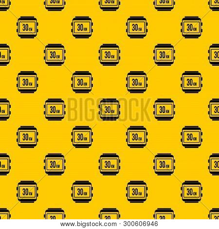Speedometer Bike Pattern Seamless Vector Repeat Geometric Yellow For Any Design