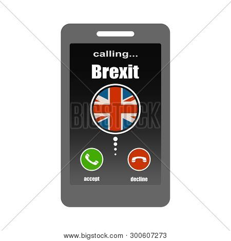 Smartphone With Call Screen. Ready For Answer Concept. Image Relative To Politic Situation Between G