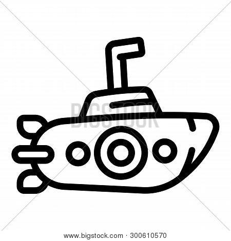 Periscope Submarine Icon. Outline Periscope Submarine Icon For Web Design Isolated On White Backgrou