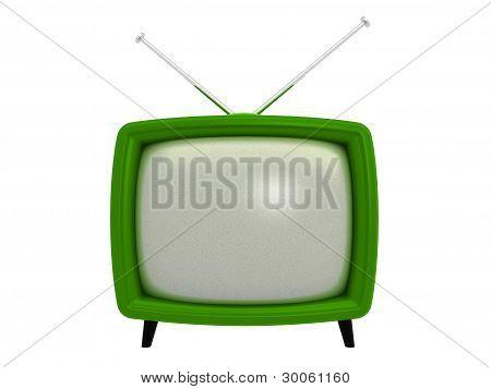 Old TV . 3D