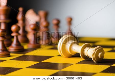 Chess concept with various pieces