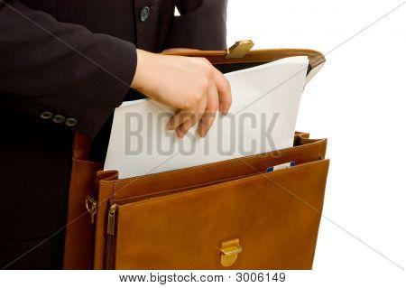 Plans In Briefcase