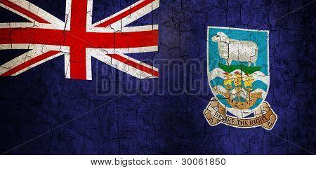 Grunge Falkland Islands Flag