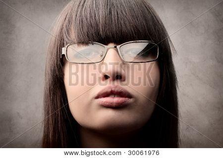 Portrait of a businesswoman wearing eyeglasses
