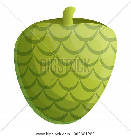 Tropical Soursop Icon. Cartoon Of Tropical Soursop Icon For Web Design Isolated On White Background