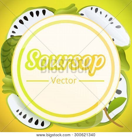 Exotic Soursop Concept Background. Cartoon Illustration Of Exotic Soursop Concept Background For Web
