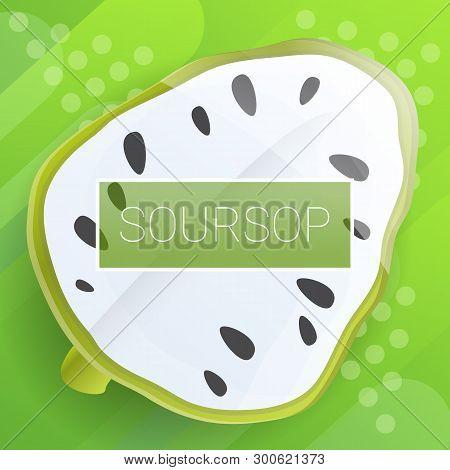 Soursop Fruit Concept Background. Cartoon Illustration Of Soursop Fruit Concept Background For Web D