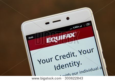 Equifax Logo Seen On The Smartphone Screen